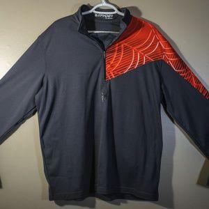 Spyder L/S 1/2 Zip Up Shirt w/ Spider Web Graphic
